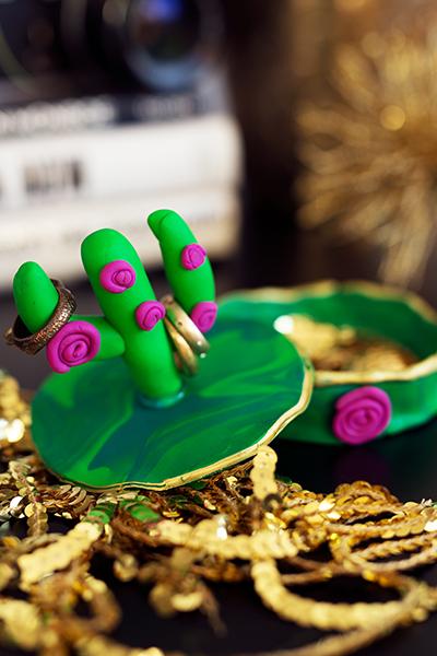DIY Fimo Schmuckschachtel mit Kaktus Schmuck
