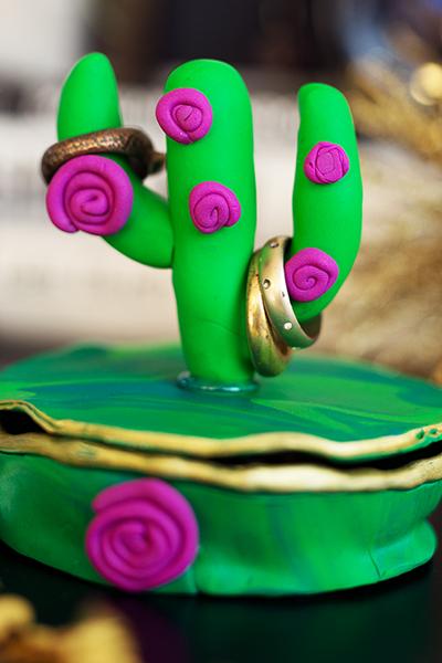 DIY Fimo Schmuckschachtel mit Kaktus selber machen