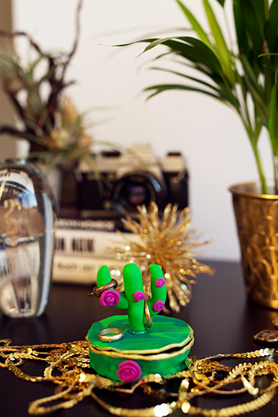 DIY Fimo Schmuckschachtel mit Kaktus zum nachmachen