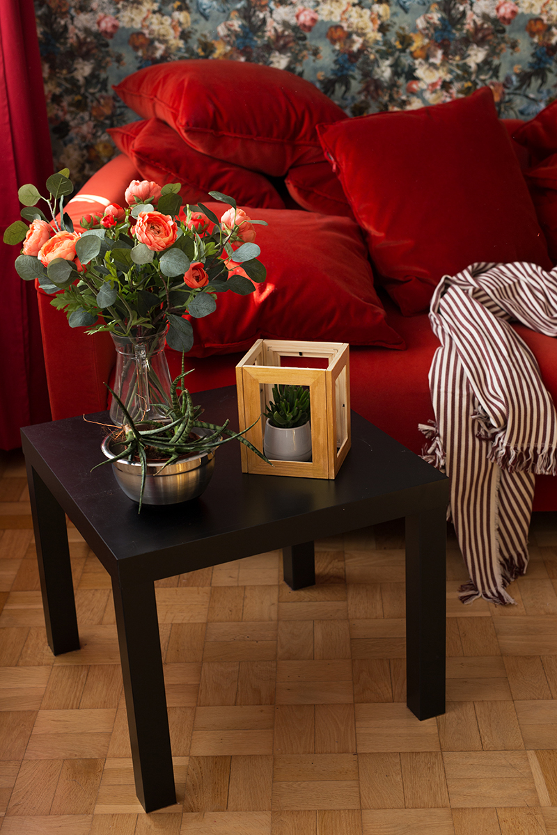 DIY Terrarium picture frame Ikea Hack Velvet Couch