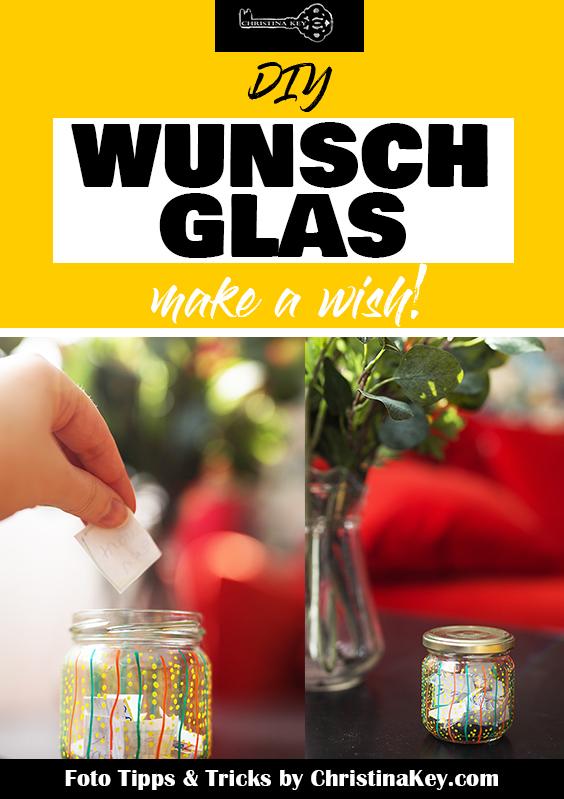DIY Wunsch Glas Geschenk Idee selber machen