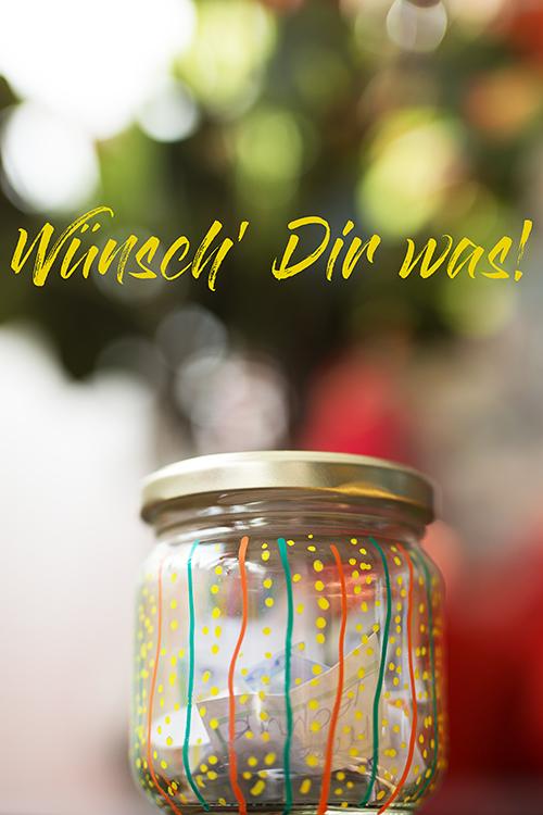 DIY Wunsch Glas Upcycling Geschenkidee