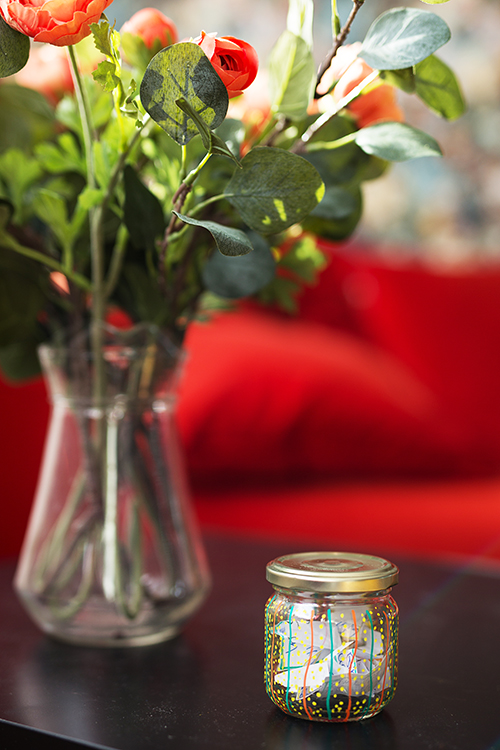 DIY Wunsch Glas Upcycling Idee