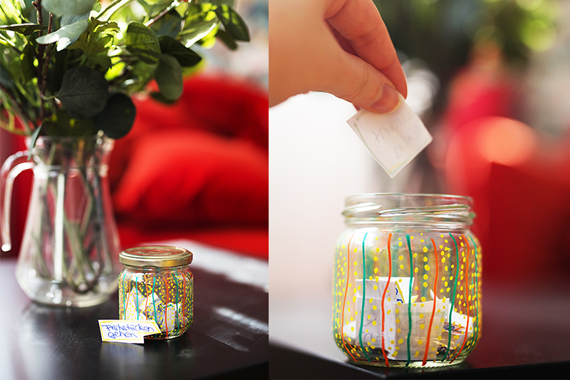 DIY Wunsch Glas Upcycling Selbstgemachte Geschenk Idee