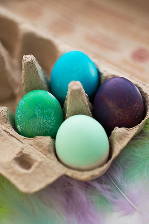 Oster DIY Ideen Ostereier färben