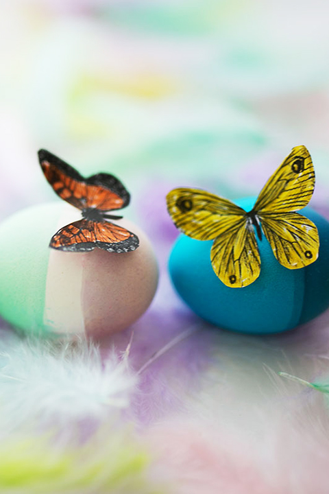 Oster DIY Ideen Schmetterlinge Eier