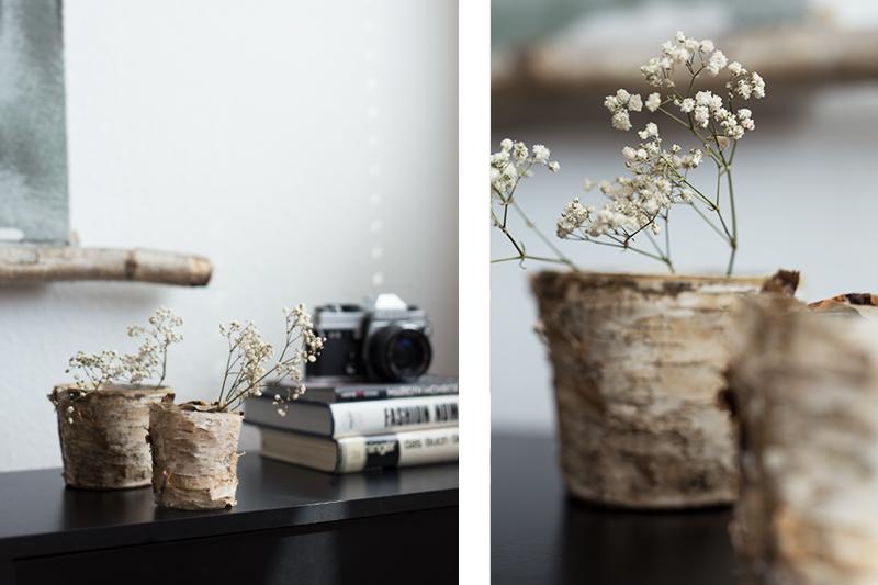 DIY Birken Topf Vase Birkenrinde Idee