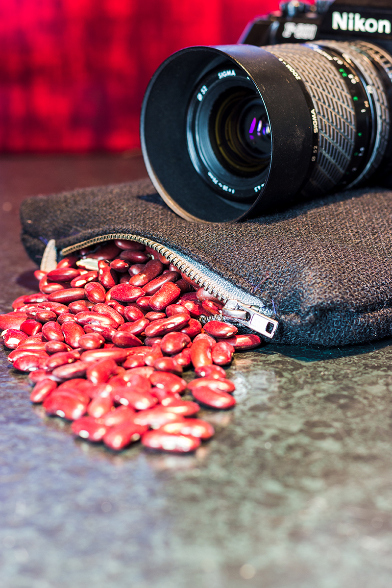 DIY Bohnensack Stativ Beanbag Tutorial Fotografie