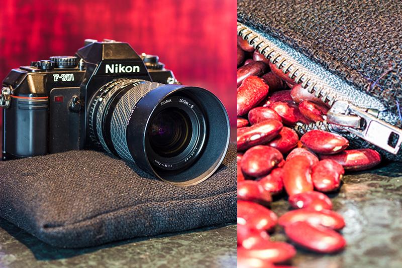 DIY Bohnensack Stativ Beanbag zum Fotografieren