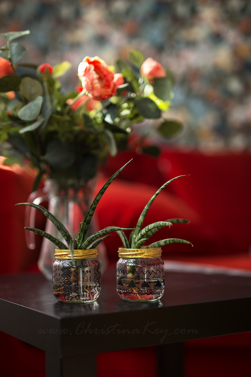 Glas Upcycling Wasserpflanze DIY Projekt