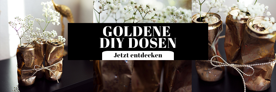 Goldene DIY Dosen
