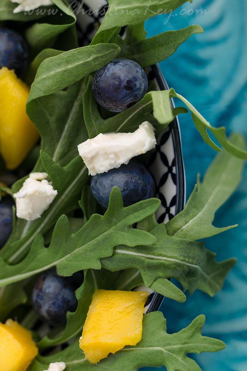 Sommer Salat mit Mango Rezept Idee