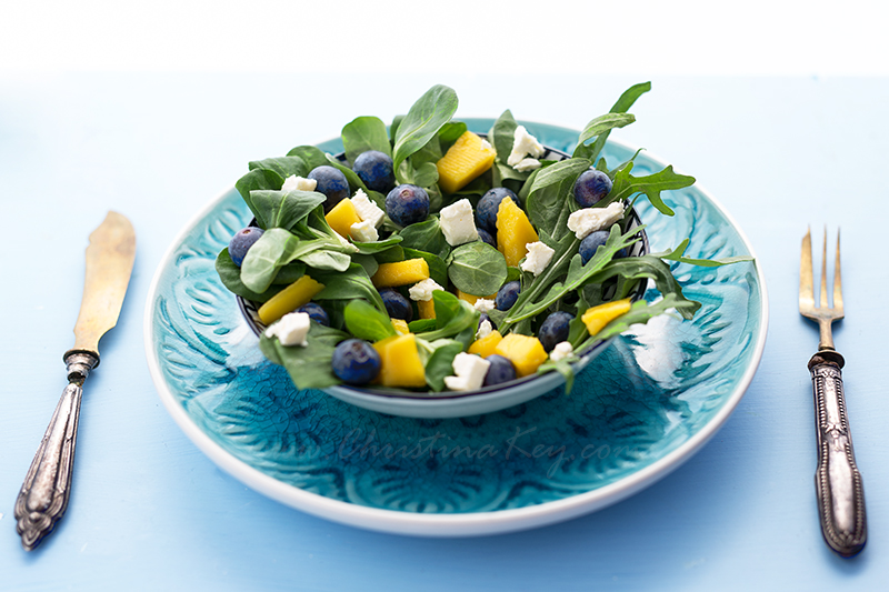 Sommer Salat mit Mango