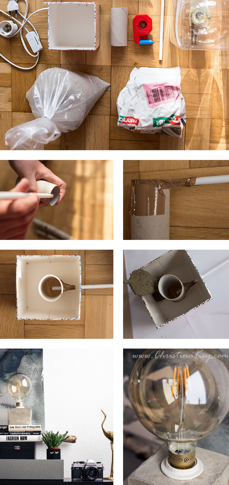 DIY Beton Lampe Anleitung
