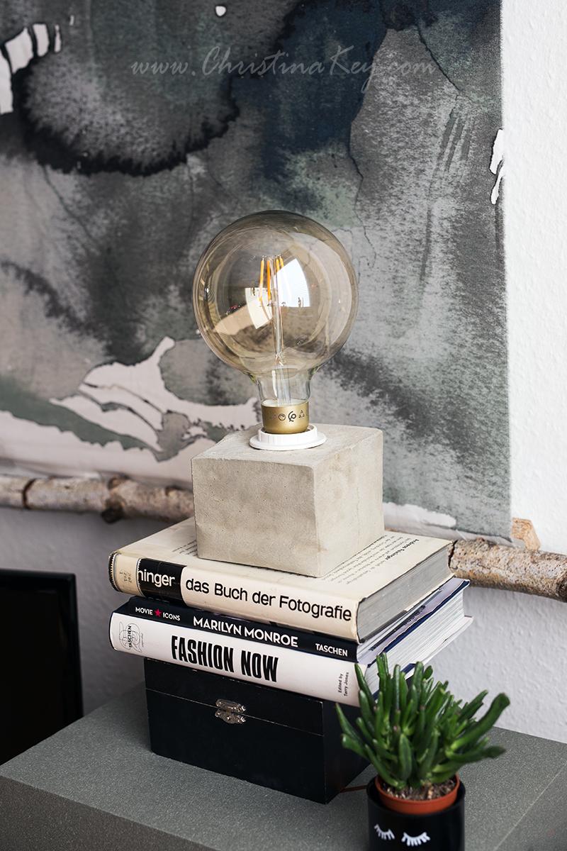 DIY Beton Lampe Wohnzimmer Einrichtung