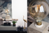DIY Beton Lampe mit großer Glühbirne