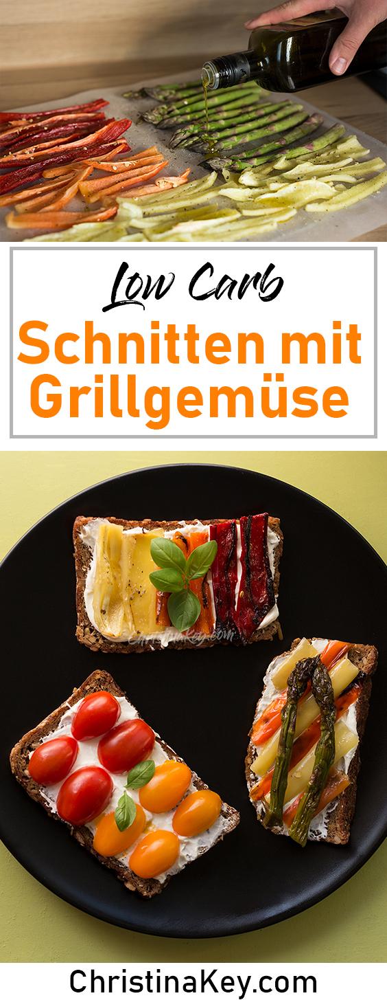 Low Carb Schnitten Grillgemüse Rezept