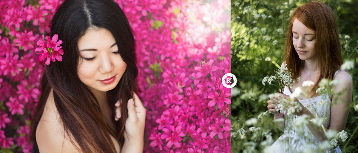 Coole Requisiten für Fotoshootings Blumen