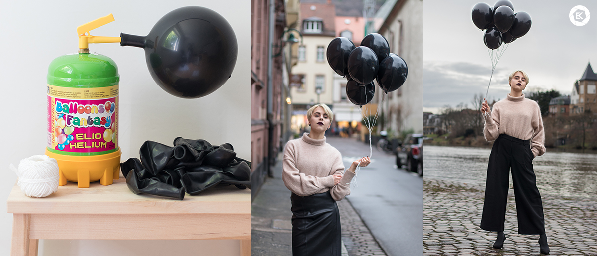 Coole Requisiten für Fotoshootings Luftballons