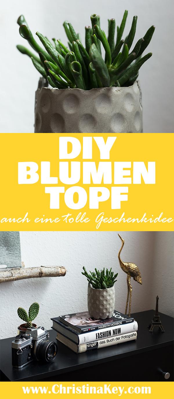 DIY Blumentopf Beton