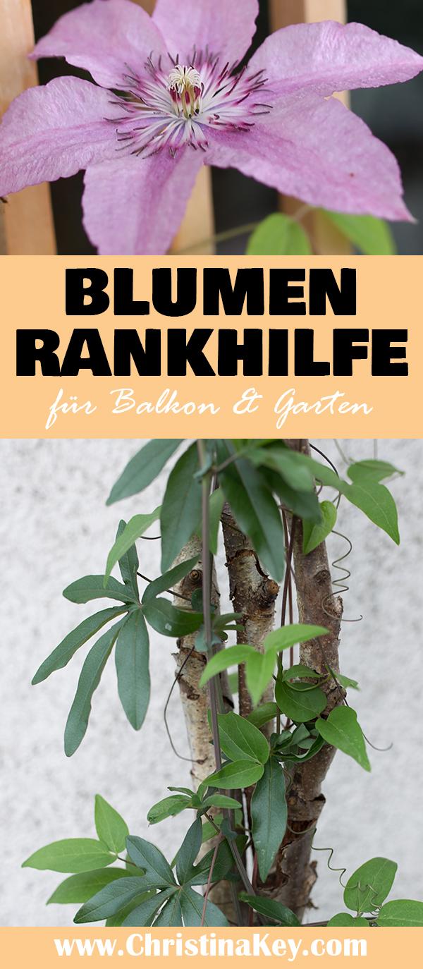 DIY Rankhilfe Blumen Garten und Balkon