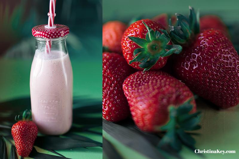 Erdbeermilch selber machen Sommer Getränk
