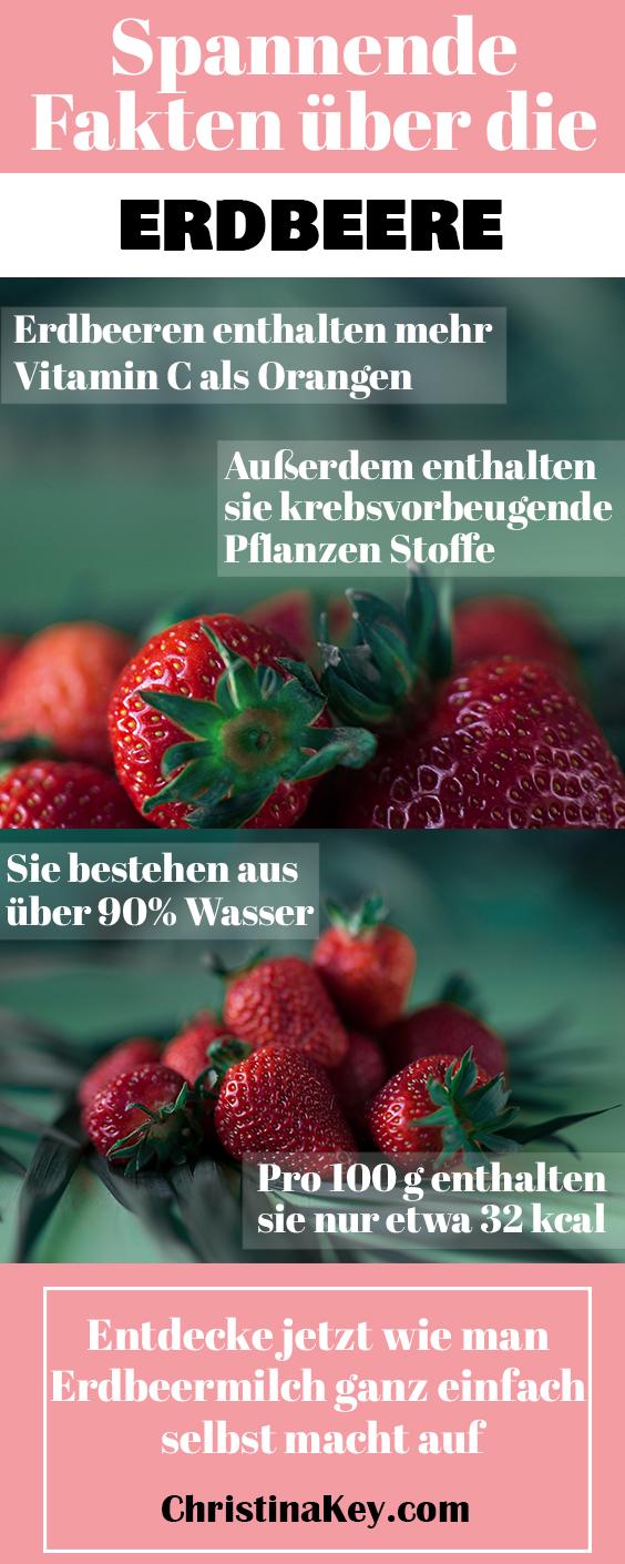 Erdbeermilch selber machen und Erdbeer Fakten