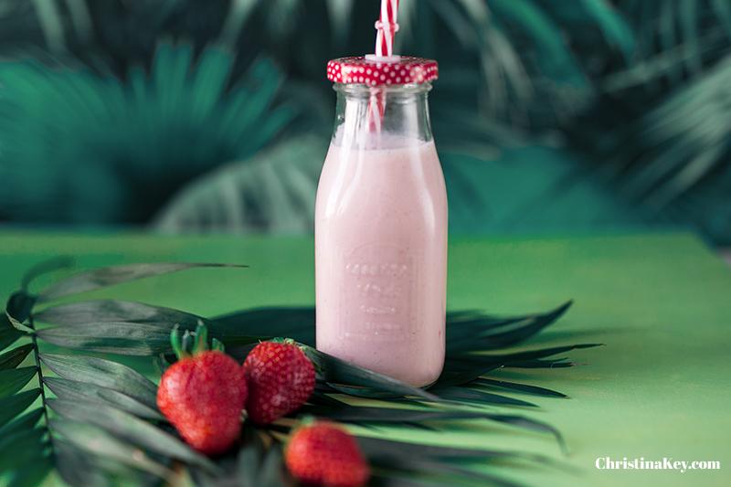 Erdbeermilch selber machen