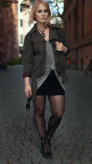 Minirock Outfits Herbst Jacke