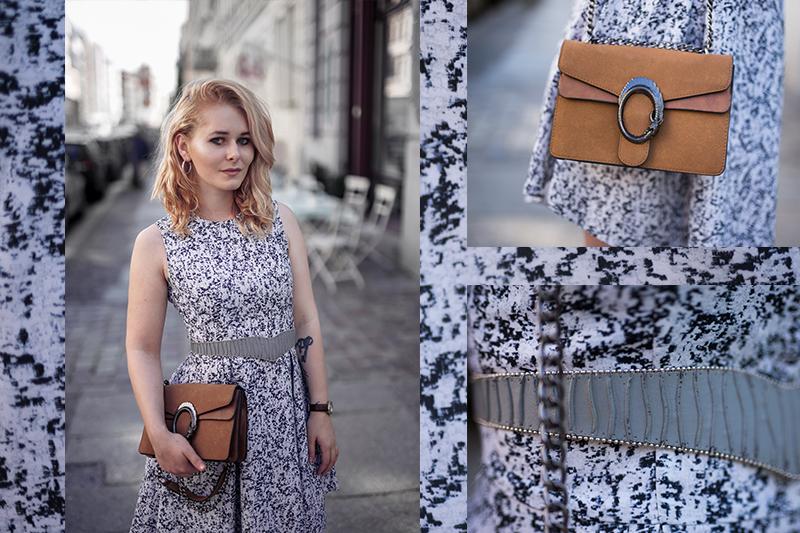 Hellblaues Kleid Sommer Outfit