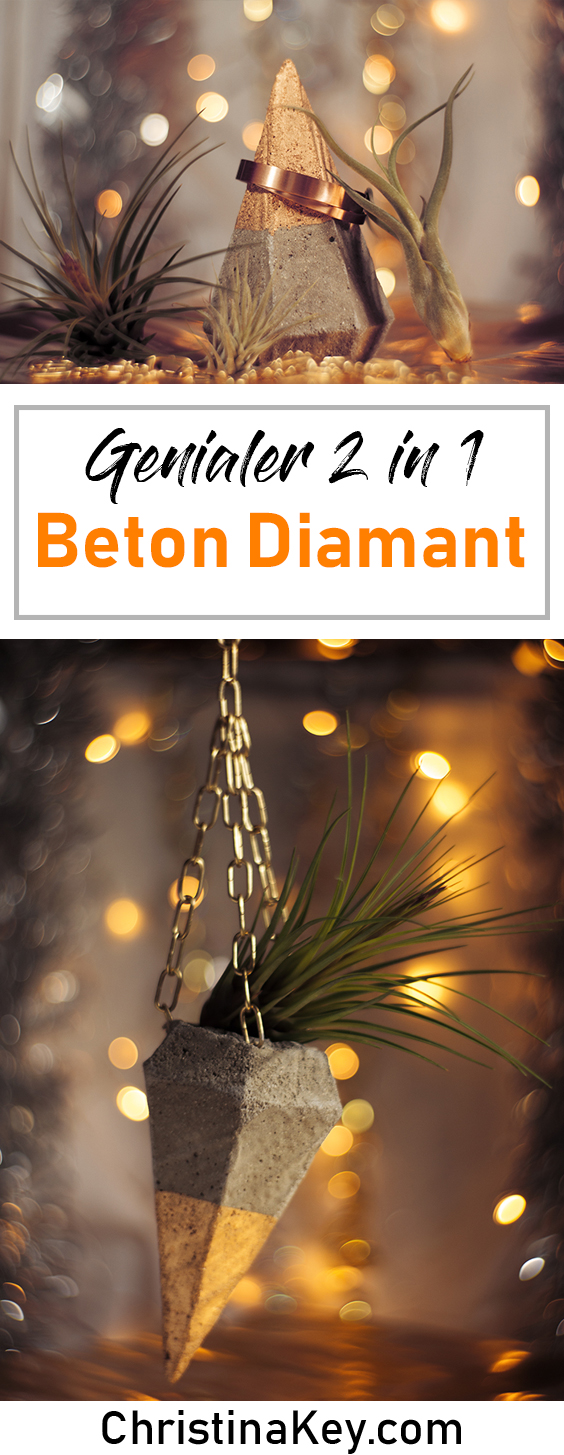 DIY Ideen Zuhause DIY Beton Diamant