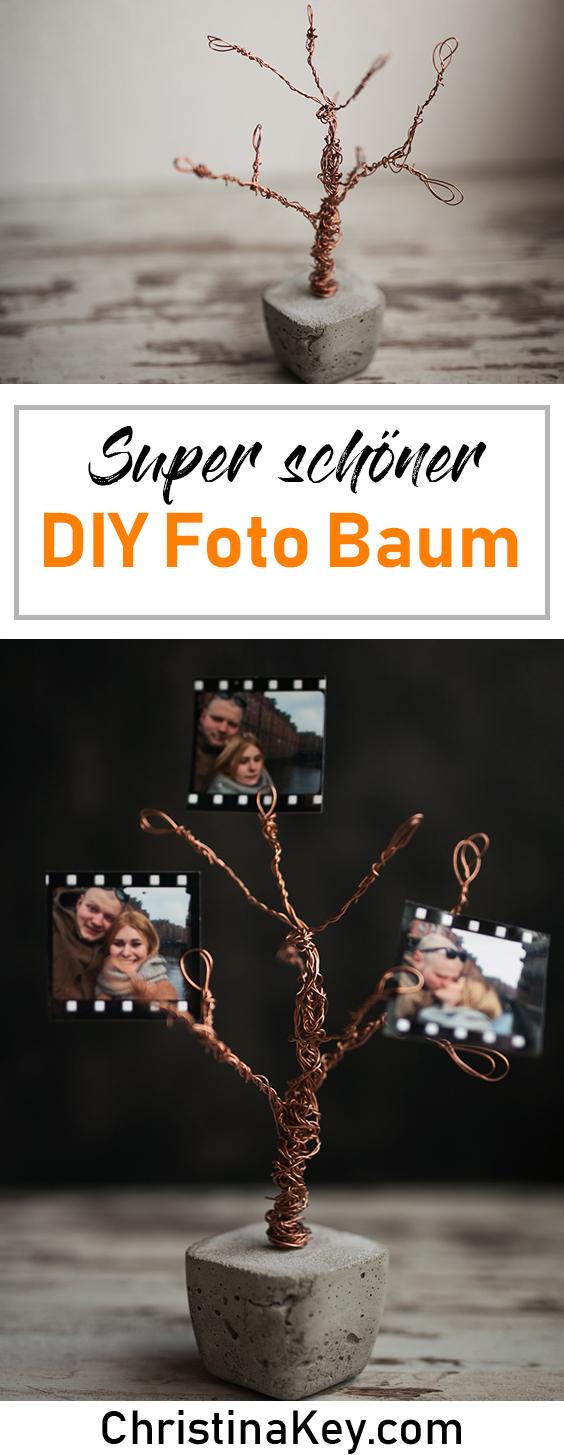 DIY Ideen Zuhause DIY Beton Foto Baum