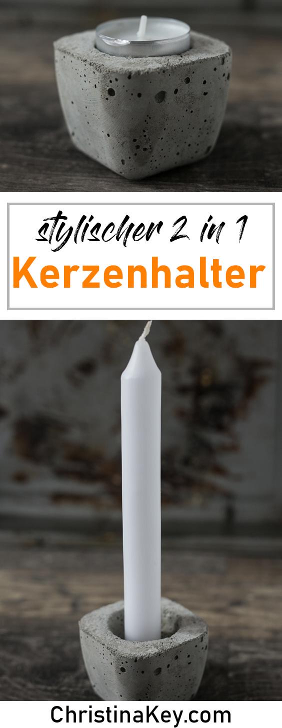 DIY Ideen Zuhause DIY Beton Kerzenhalter