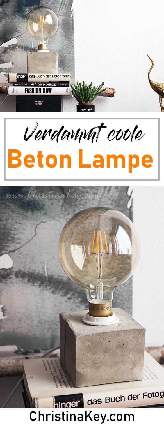 DIY Ideen Zuhause DIY Beton Lampe