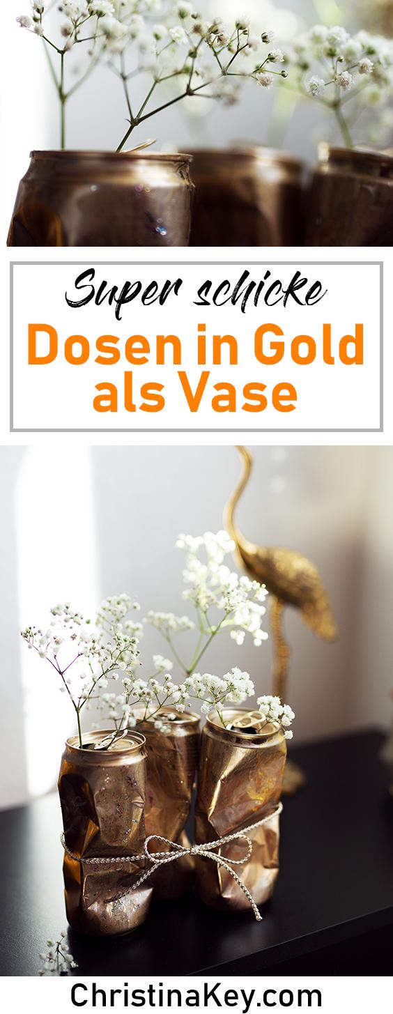 DIY Ideen Zuhause DIY Dosen als Vase