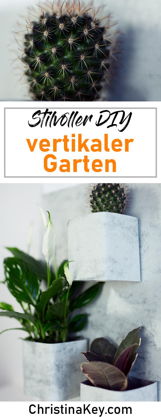 DIY Ideen Zuhause DIY vertikaler Garten