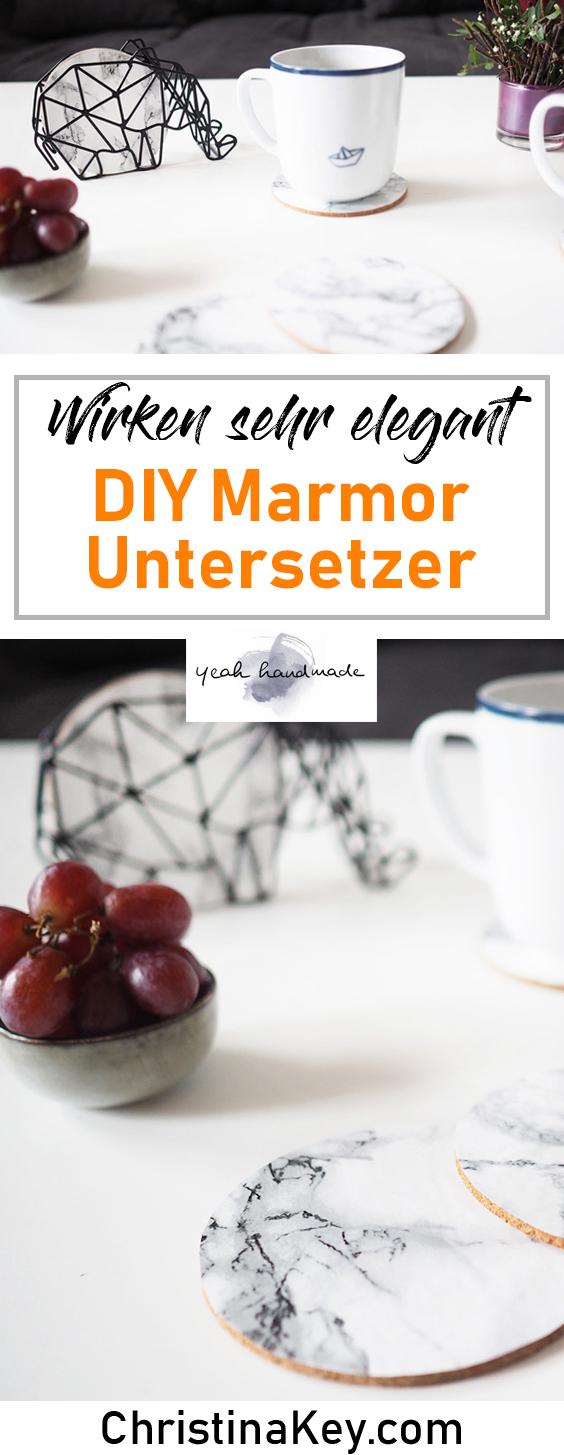 DIY Ideen Zuhause Marmor Untersetzer