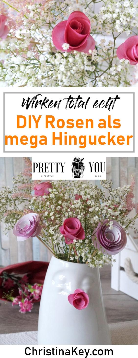 DIY Ideen Zuhause Rosen aus Papier