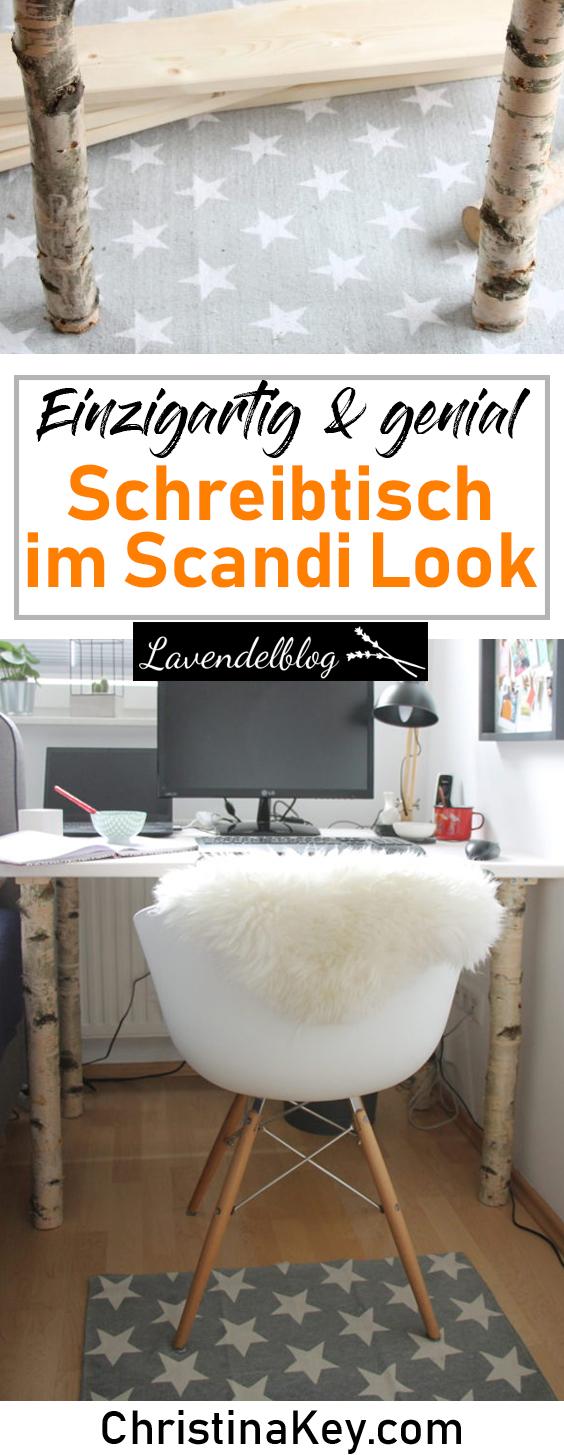 DIY Ideen Zuhause Schreibtisch im Skandinavischen Look