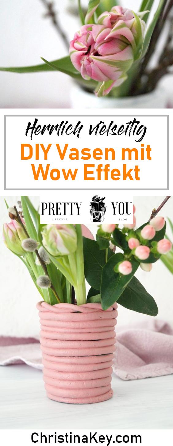 DIY Ideen Zuhause Vasen Pastell
