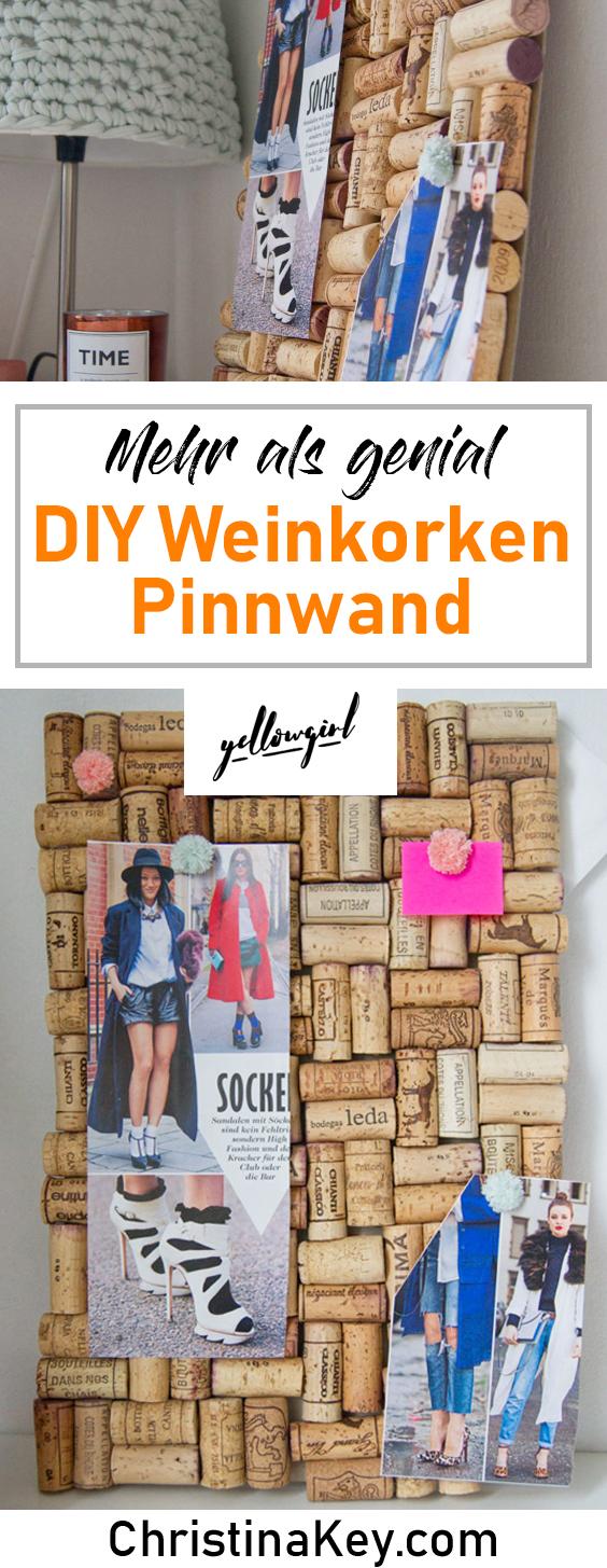 DIY Ideen Zuhause Weinkorken Pinnwand