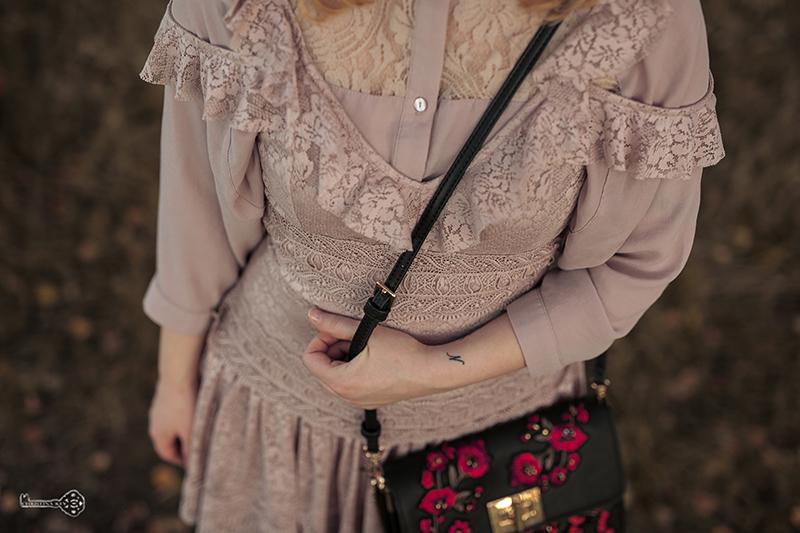 Herbst Outfit mit Kleid Spitze