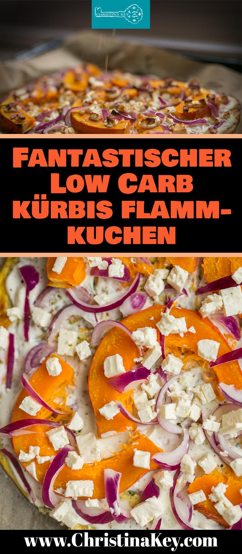 Kürbis Rezepte Low Carb Flammkuchen