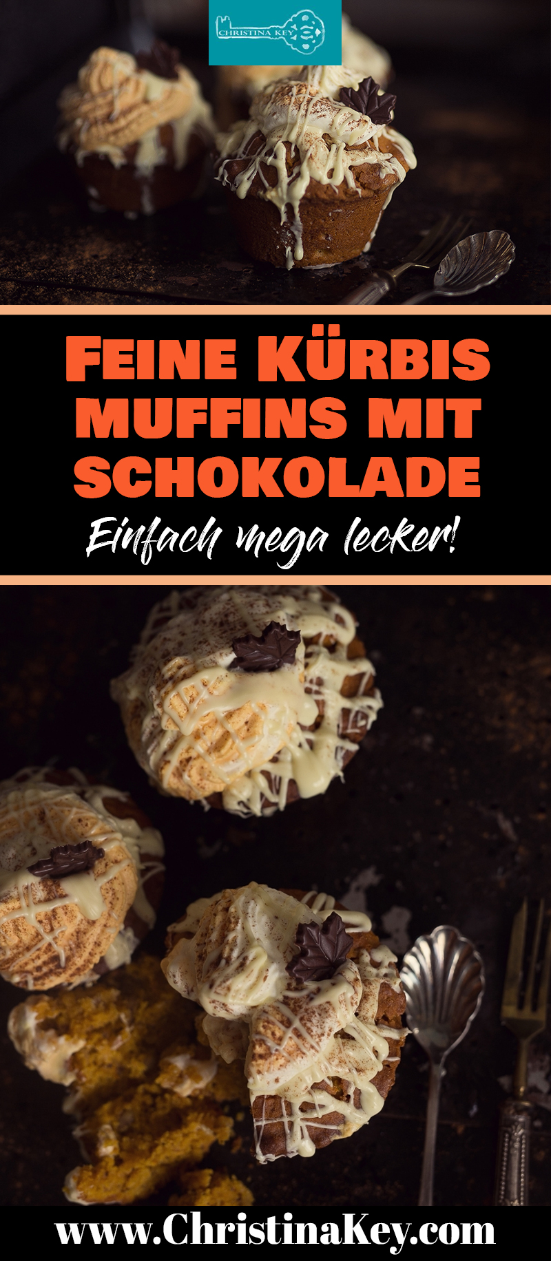 Kürbis Rezepte Muffins mit Schokolade