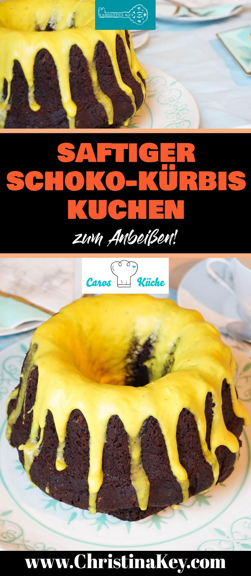 Kürbis Rezepte Schoko Kuchen mit Kürbis