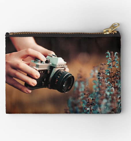 Tasche mit analoger Kamera Druck