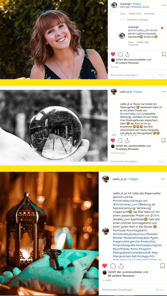 Presets und Glaskugel Fotografie Online Kurs