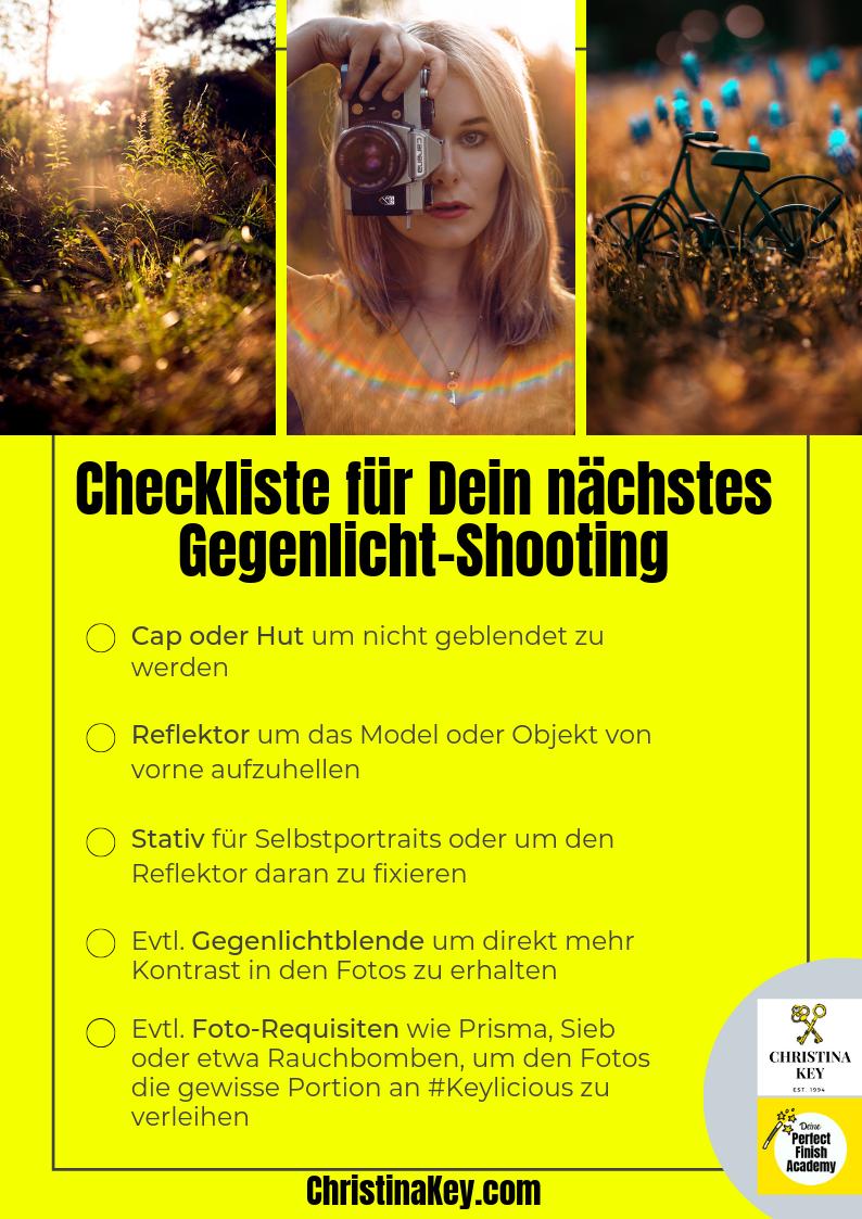 Selbstportraits bei Gegenlicht Tipps und Checkliste
