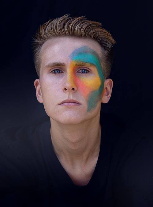 Buntes Portraitshooting im Herbst kreativ