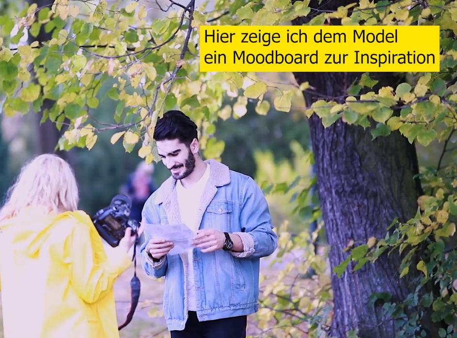 Fotoshooting mit Mann im Herbst Moodboard